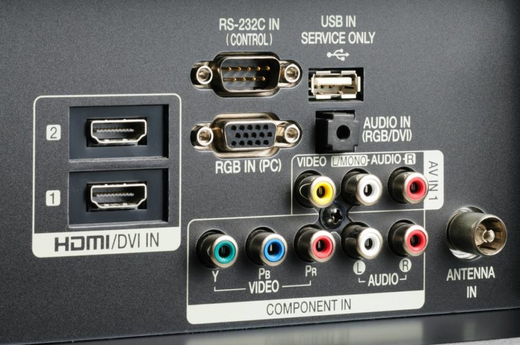 Conector HDMI en TV