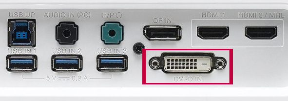 Conector DVI para conectar portátil a TV