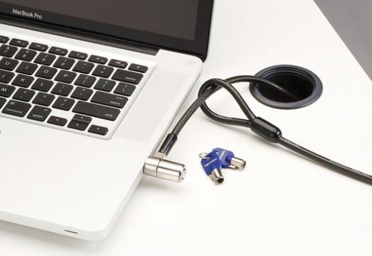 Portátil candado con cable de seguridad