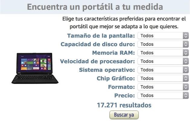 configurador de portátil personalizado