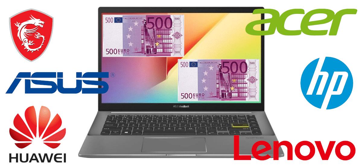 Marcas de computadores portáteis com menos de 1000 euros
