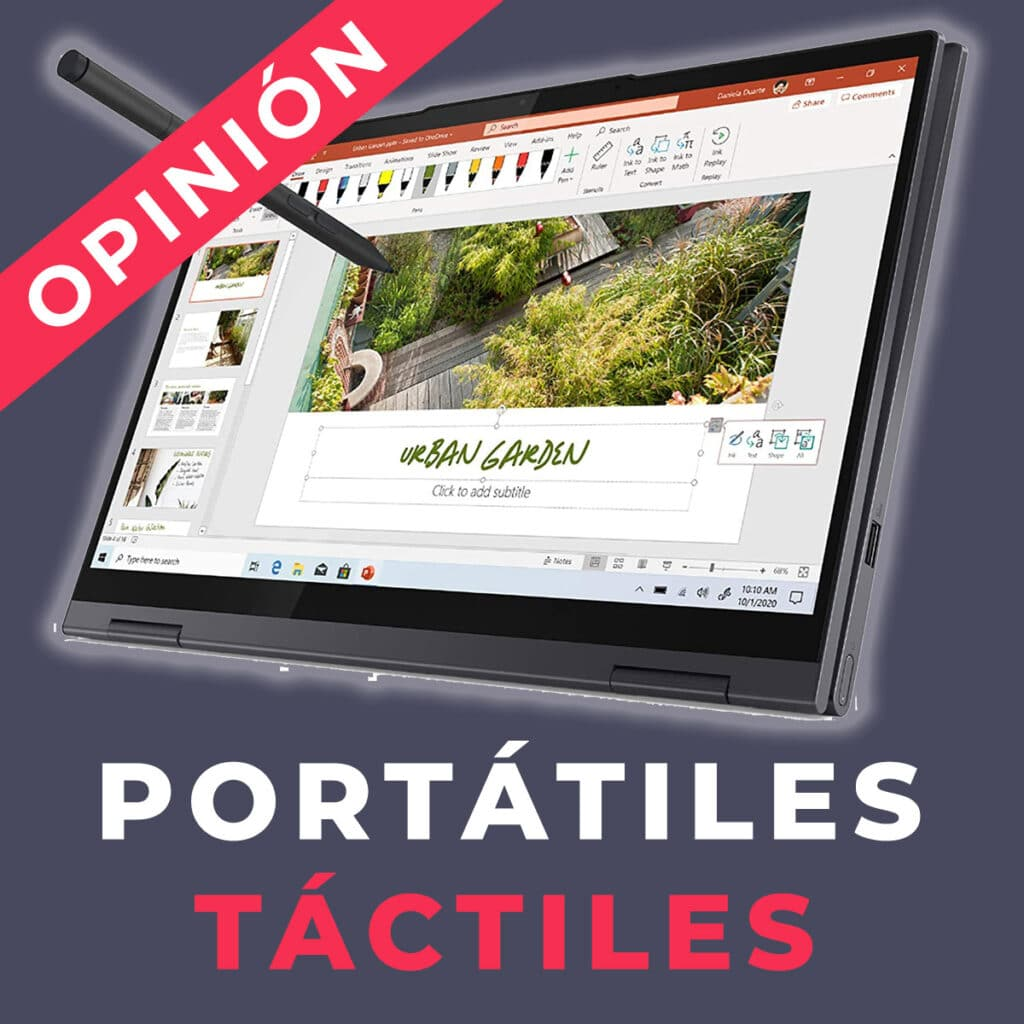 computadores portáteis com ecrã táctil